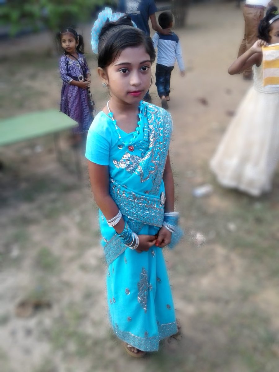 """My nieces got captured in a function at Ahamed Fareed Mahavidyala on Friday.see the natural beauty on their faces """"butterflies can't see their own wings""""as per the quote how gorgeous they are.."""