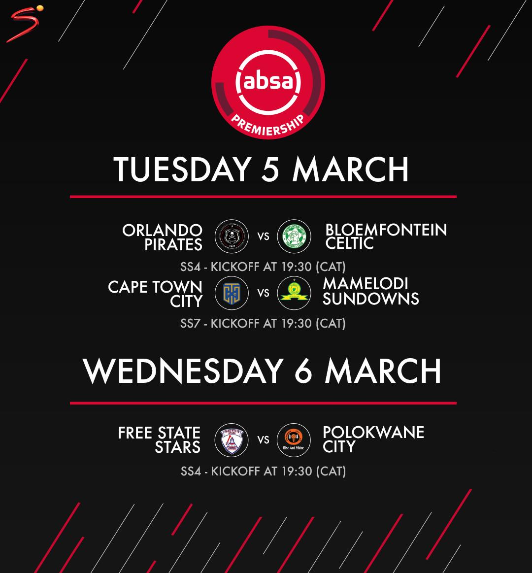 The two top teams in the #AbsaPrem are in action this week 🇿🇦 ⚽️