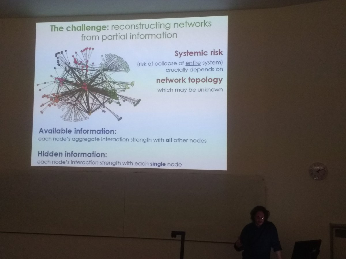 Diego Garlaschelli presenting his research on shock propagation in interaction networks...from finance to food webs! #EBSseminars