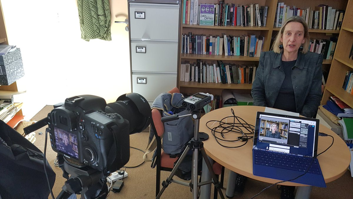 New TeacherHub resources in production! Filming Professor Anne Varty speaking about Oscar Wilde's An Ideal Husband today. #TeamEnglish #OscarWilde #KS5 #TeachingResources #AnIdealHusband #Wilde