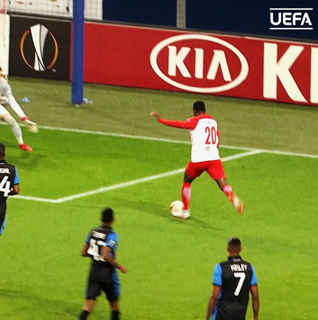 Salzburgs key man for the knockouts? 🕺 Patson Daka #UEL | @RedBullSalzburg
