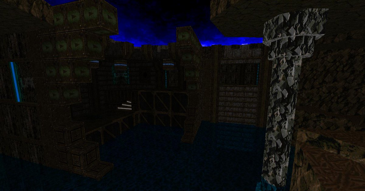 I'm still working. Right now I'm making a map for the future Unapologetically Brown project which I've been pressured into leading. I am right now sitting at 14,725 linedefs, with only one key placed and encounter room designed. #Doom #mapping #CommunityProject #ZDoom