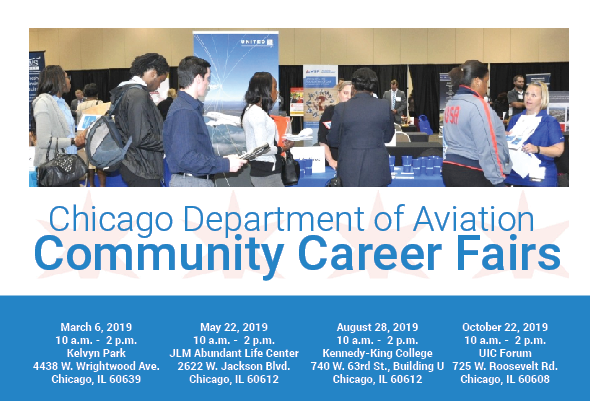 O Hare Intl Airport On Twitter The Chicago Department Of Aviation Cda Announces Four Citywide Career Fairs Featuring Job Readiness Workshops And Airport Hiring Opportunities For Residents In Every Chicago Community Https T Co T0wzjmvemj