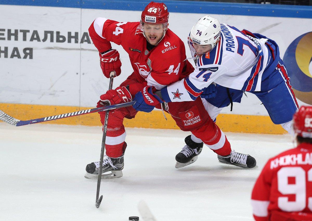 «Спартак» уступил СКА в овертайме, счет в серии стал 2:2 (Видео)