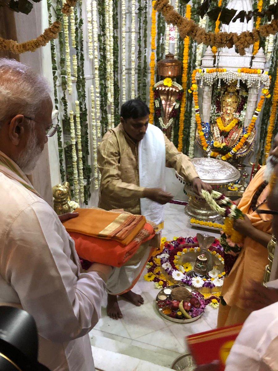 PM seeks blessings at Dholeshwar temple, visits mother Hiraba in Gandhinagar