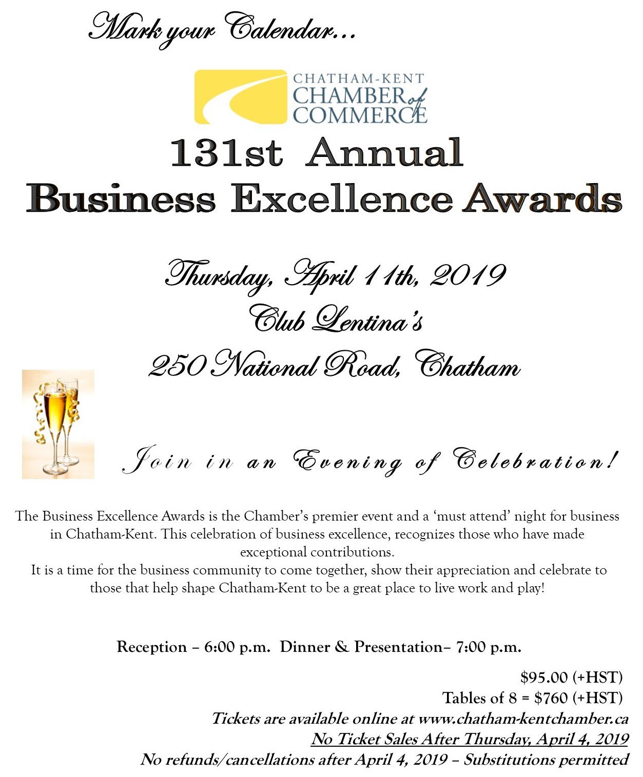 131 Business Excellence Award @ Club Lentina's