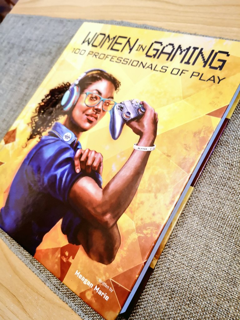 Finally picked up my copy of Women in Gaming by @MeaganMarie featuring some of the most badass women ever! 😍