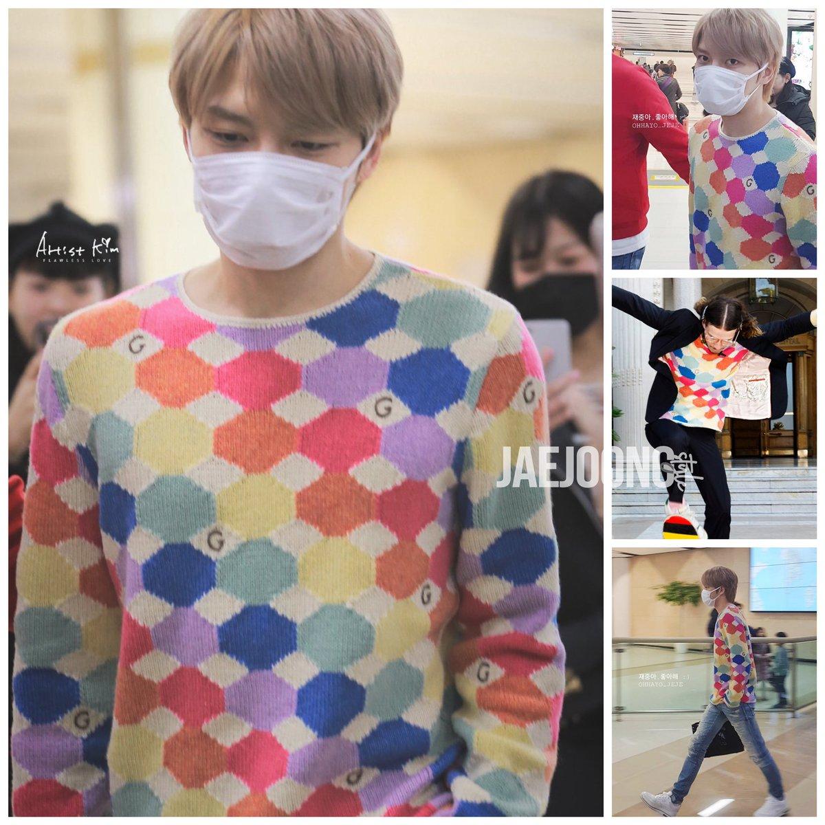 best sneakers 6727e d23ba 2019.03.04ジェジュン金浦空港ファッション GUCCIのセーター ...