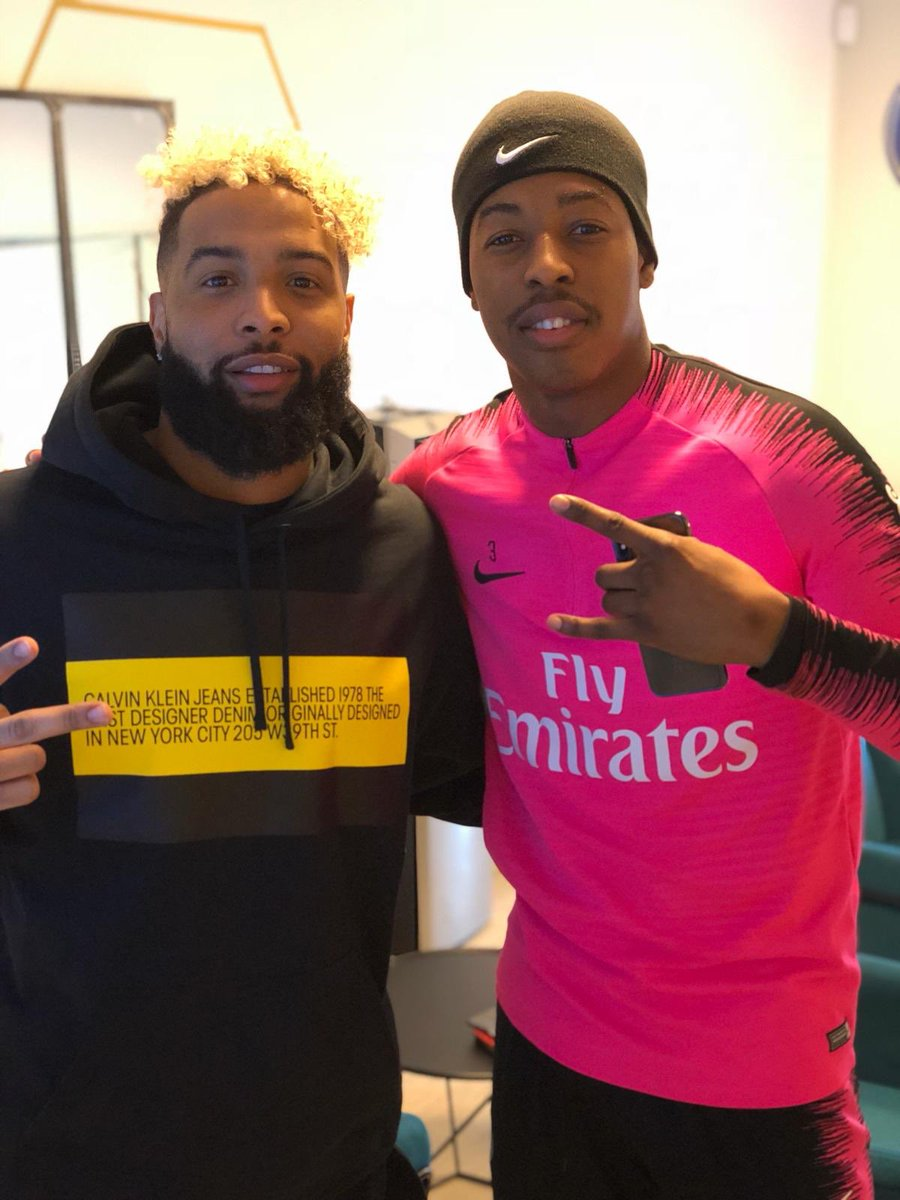 Always good to have a Beckham in Paris 🙌🏾 ! Thanks for the visit crack @obj 🏈 #LAFORCE