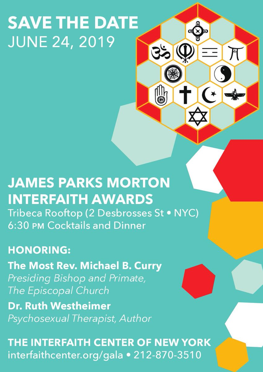 Don't miss this year's James Parks Morton Interfaith Awards – June 24 - tickets will go on sale soon.