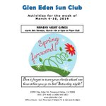 Image for the Tweet beginning: Happening This Week At #GlenEdenSunClub!