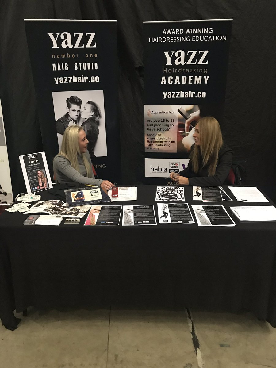 Leeds Apprenticeship event is well under way @Leeds Arena.  Come and see us at stand 19A regarding apprenticeships in Hairdressing and Barbering until 8pm tonight.  For info email yazzhair@live.co.uk or call 07961 226411 #Apprenticeships #LARF2019  #yazzhairdressingacademyp