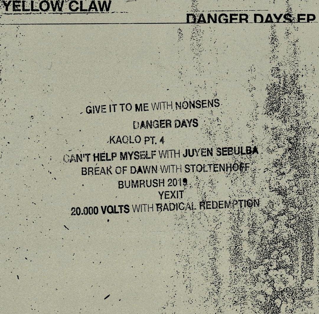 """Résultat de recherche d'images pour """"yellow claw give it to me list EP"""""""