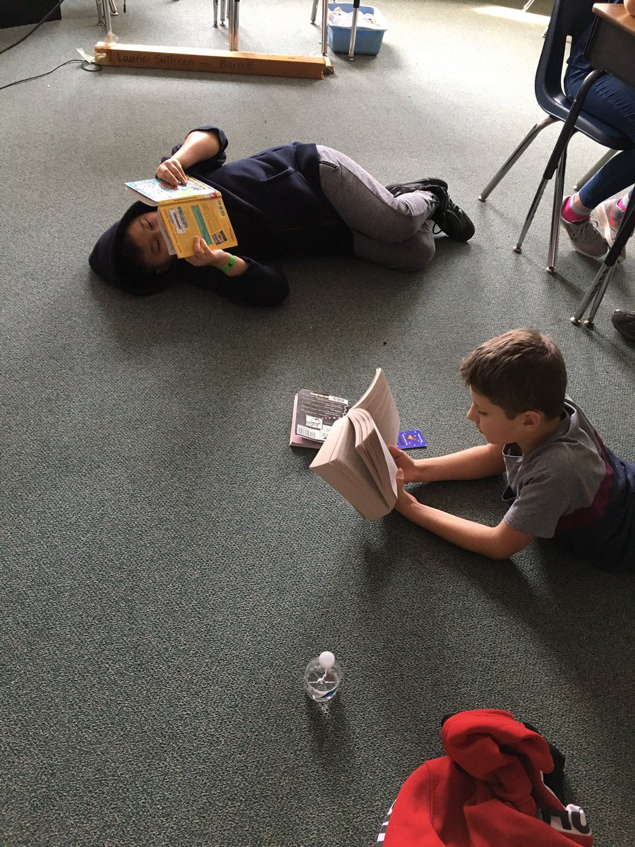 5th graders reading some more! Just read El Deafo and it was sooo good! <a target='_blank' href='http://twitter.com/Cynthiacolumbo1'>@Cynthiacolumbo1</a> <a target='_blank' href='http://search.twitter.com/search?q=KWBReadAThon19'><a target='_blank' href='https://twitter.com/hashtag/KWBReadAThon19?src=hash'>#KWBReadAThon19</a></a> <a target='_blank' href='https://t.co/zCCrocx410'>https://t.co/zCCrocx410</a>
