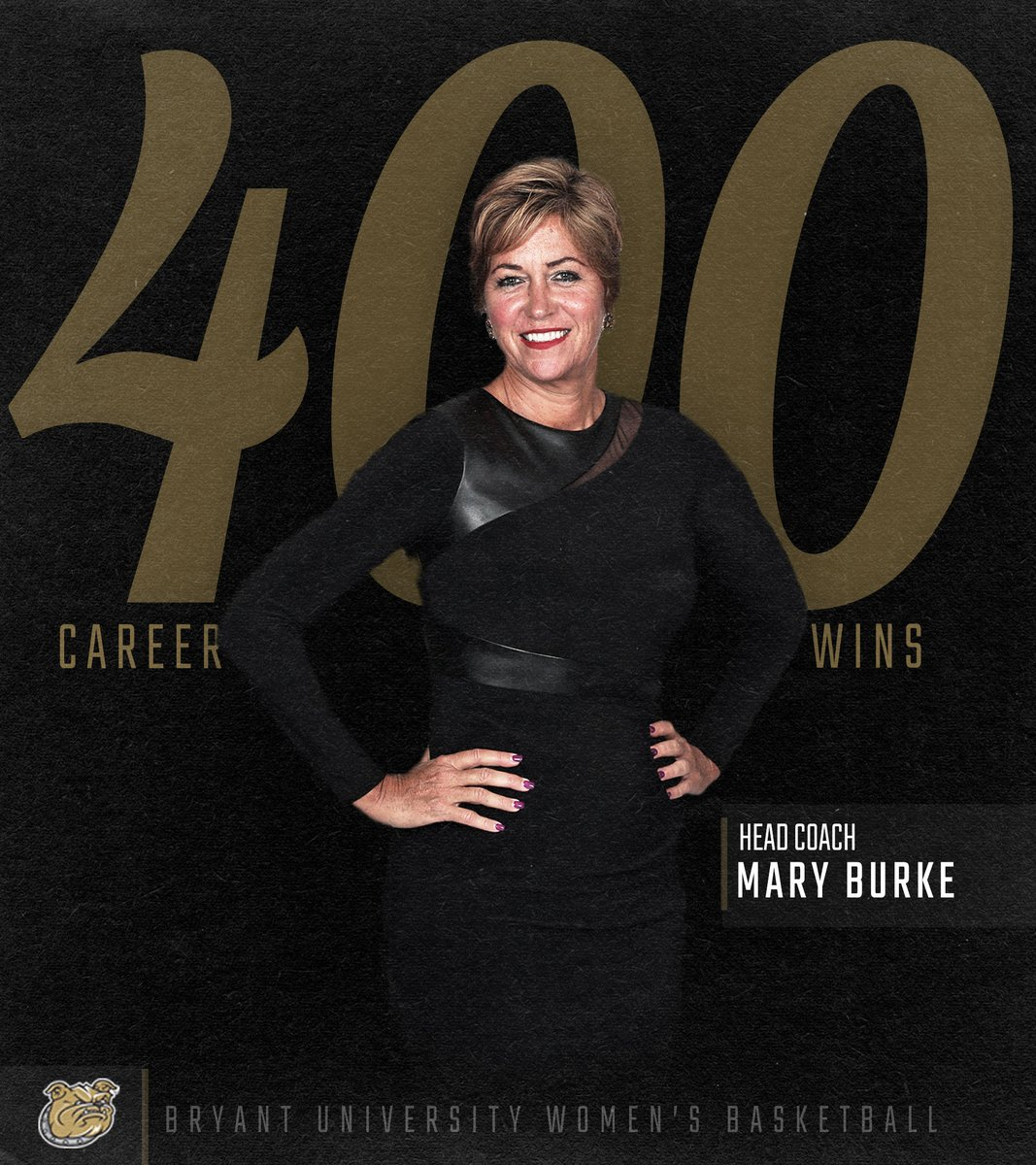 Congratulations to head coach Mary Burke on achieving her 400th career win tonight at LIU Brooklyn!  #AllHeart | #AllHustle | #NECWBB