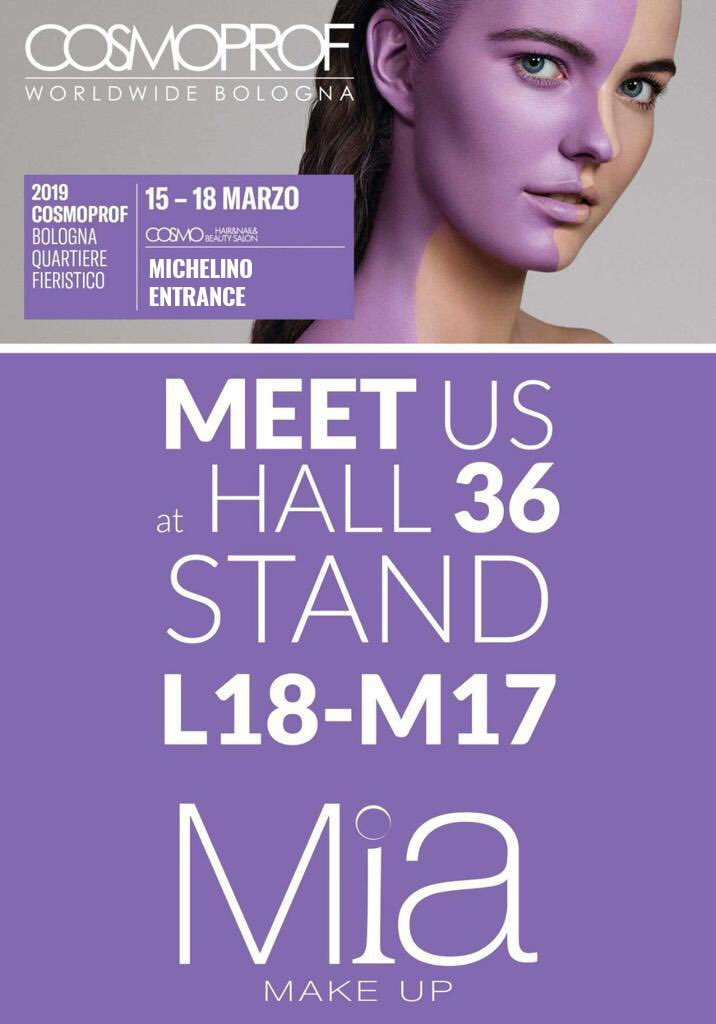 #Cosmoprof BOLOGNA ! Meet @MiaMakeupMilano to develop your business in Italy and worldwide. #makeup #retail #franchising #cosmoprof2019 https://t.co/iJZKUaOFLE