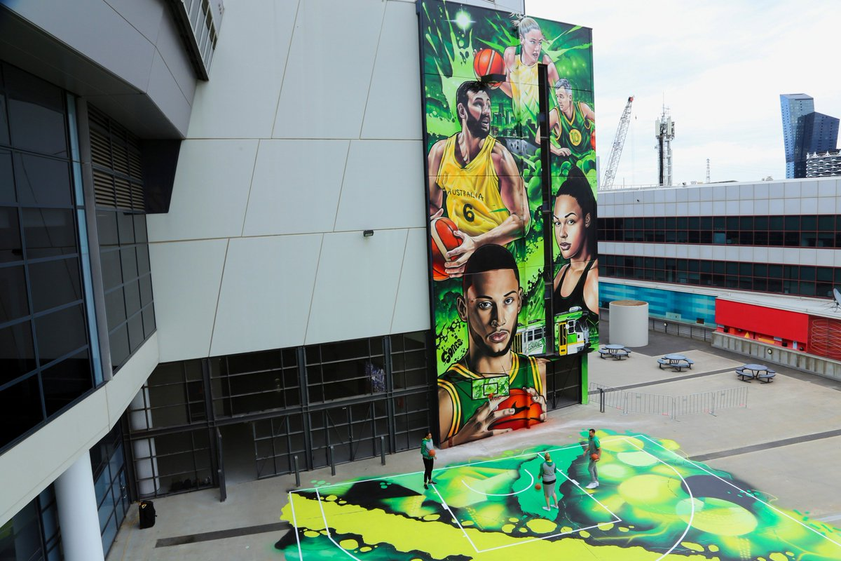 Welcome to town @kobebryant. If you're looking for a game of pick-up while you're in town, we'd recommend a visit to our newly built (and painted) street court at @marvelstadiumau.