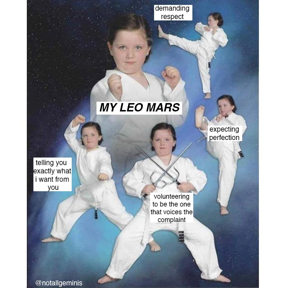 My Leo Mars has something to say.