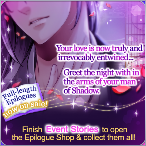 Hanzo, Genya, and Kyoichiro have stepped into the Consummate Moonlight! Finish each story to unlock a very sensual Epilogue, and earn the Dawn's Sanctuary background if you finish them all!  #SLBP #VoltageInc