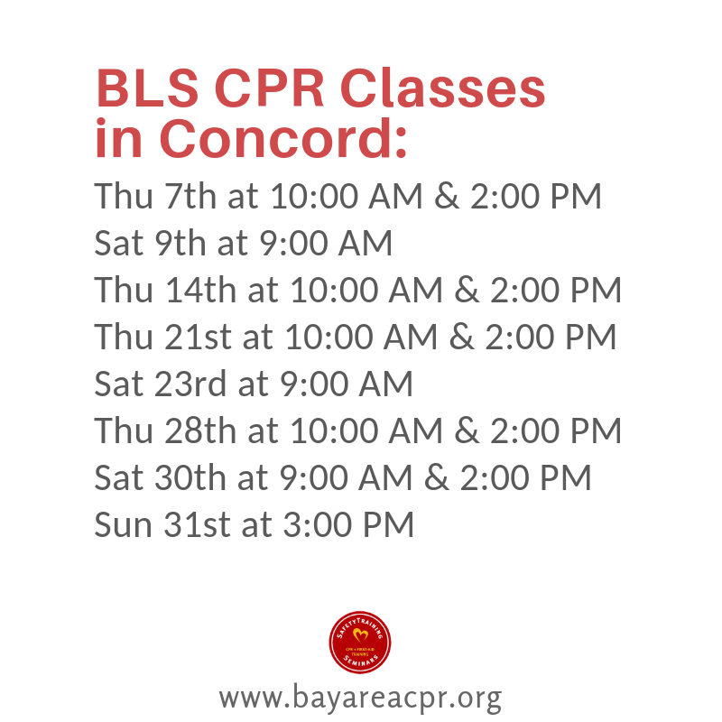 Concordcprclass Upcoming American Heart Association Bls Provider