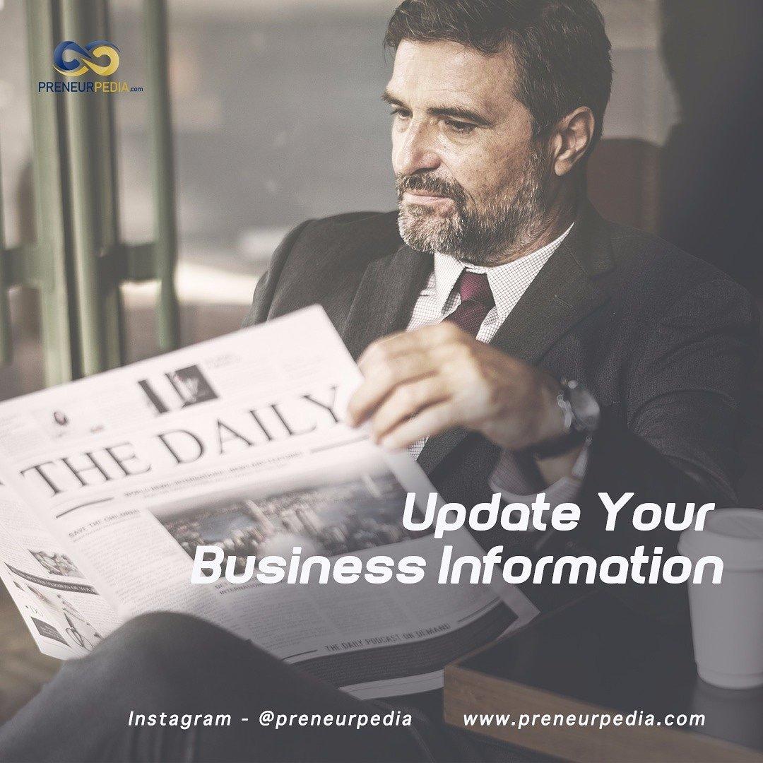 Dalam berbisnis kita tidak bisa berhenti untuk update tentang info terbaru tentang dunia bisnis  informasi terbaru adalah peluang baru kemajuan kita. https://t.co/vdS3qknNQ5  #kontenedukasi #konteninformasi #media #fakta #update #bisnis #bisnisanakmuda #bisnismilenial https://t.co/dQDnPhoy9C