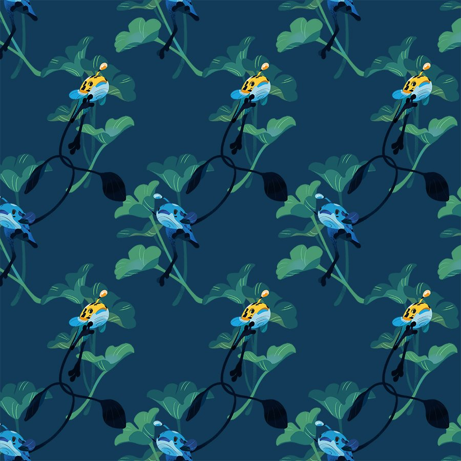 End page pattern for my thesis, featuring the good bois