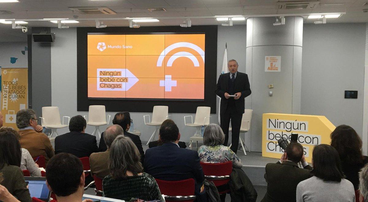 Nuestro director ejecutivo, Marcelo Abril da la bienvenida a los asistentes y presenta nuestra campaña Iberoamericana #NingúnBebéConChagas