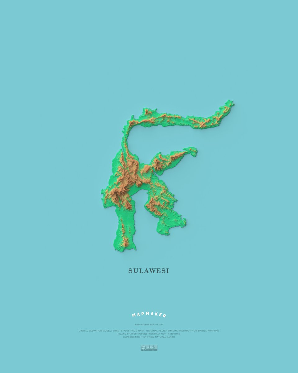 mapmakerdavid I made a map of Sulawesi, the 11th largest