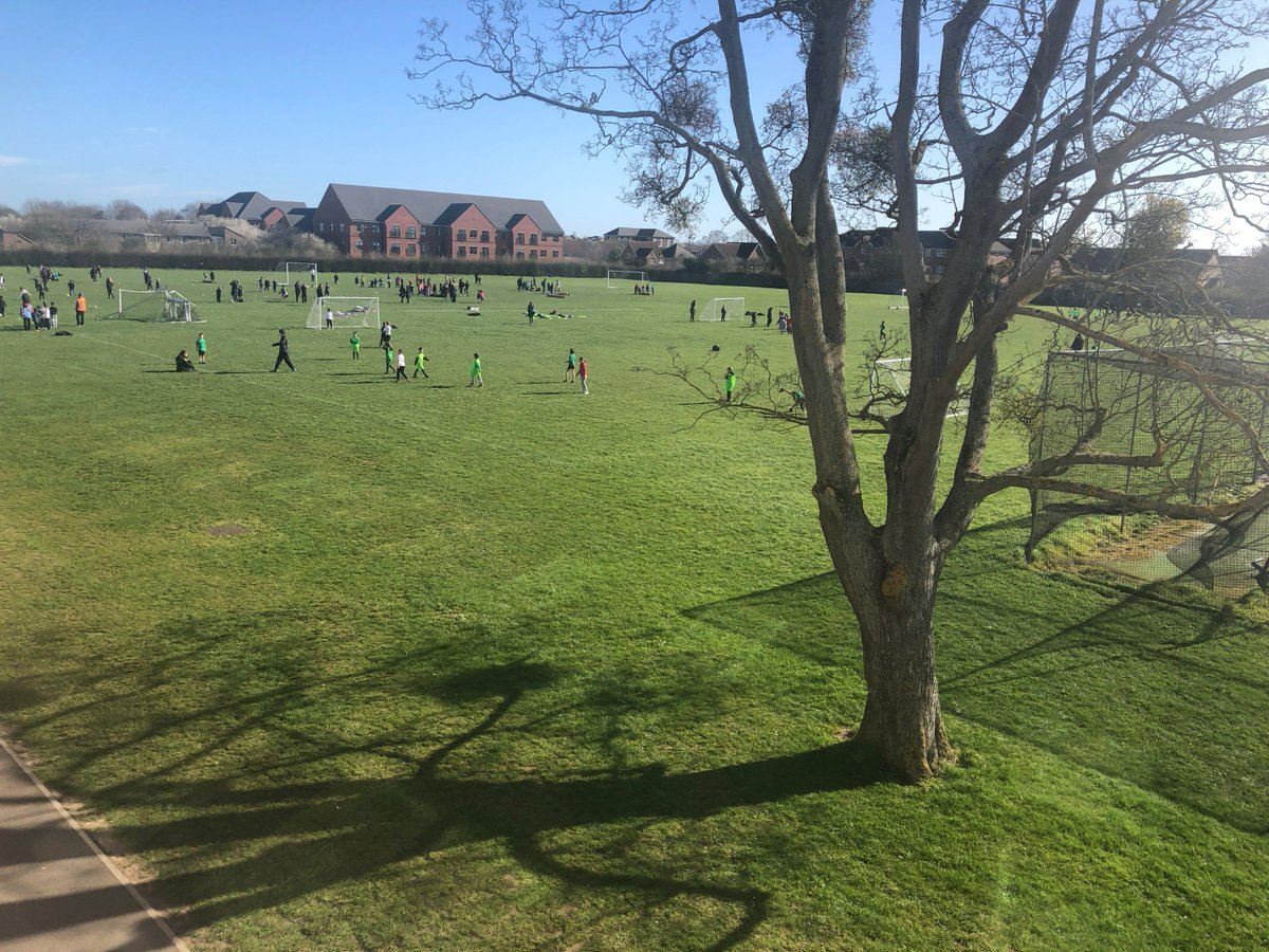 Year 3 pupils from our feeder primary schools are enjoying a successful sports festival this morning, in the lovely sunshine.