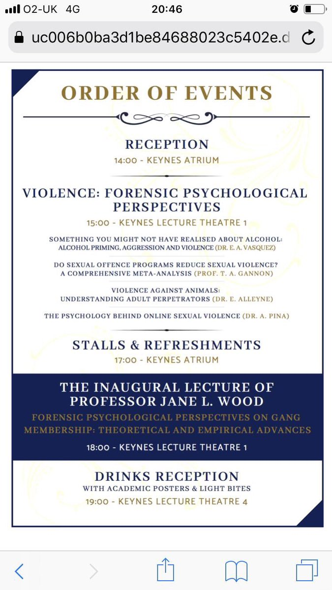 Forensic psychology conference by Kent University