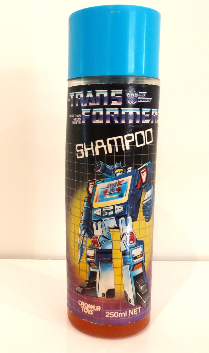 Prepare for clean hair! Soundwave Shampoo, Croner Toys, Australia 1985. #g1transformers #soundwave #Transformers
