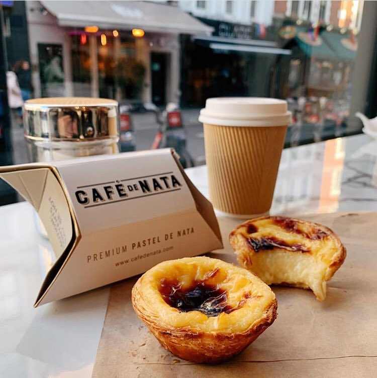 """Customer reviews like Celine's is what keeps us motivated: """"I've discovered this place in London a few weeks ago thanks to a Portuguese colleague, and I won't lie these are the BEST pasteis de nata I've ever had""""! #cafedenata #pasteisdenata #london #portugal #coffee #delicious"""