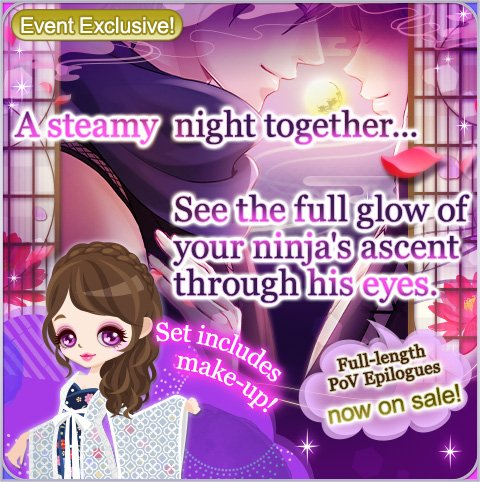 Sakuya. Sasuke. Hanzo. Genya. Hotaru. Kyoichiro. See every breathtaking, heart-pounding moment of the Consummate Moonlight Epilogues through their eyes! Plus, the full set comes with exclusive make-up! These ones, you'll definitely want to read again!   #SLBP #VoltageInc