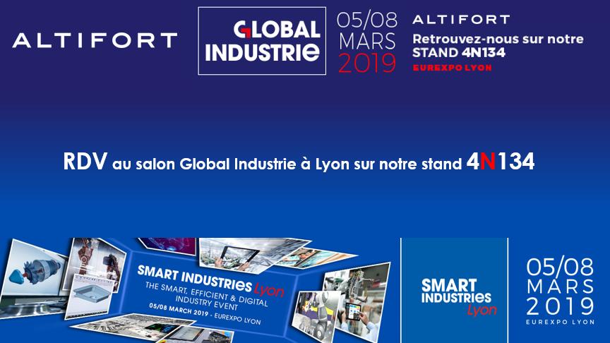 ALTIFORT participe au salon #GlobalIndustrie. Venez nous rencontrer sur notre stand 4N134!