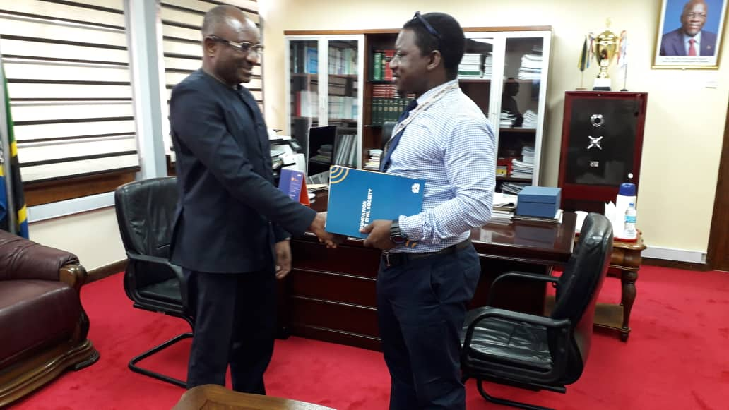 Our Programme Manager Mr Francis Uhadi @fransebach paid a courtesy call to the Clerk of the  National Assembly Mr Stephen Kagaigai in the Capital City, Dodoma #AzakiTanzania #CivilSocietyTanzania
