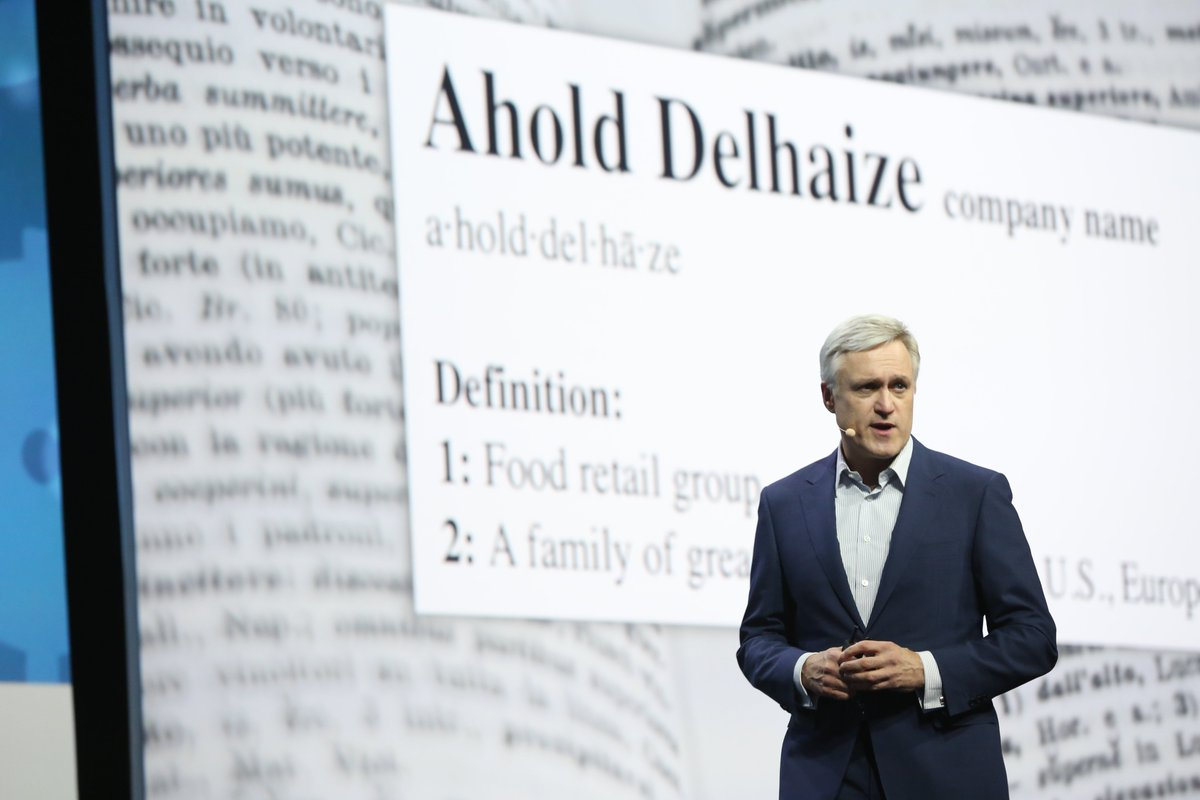 Frans Muller, President & CEO of @AholdDelhaize, delivering a keynote on the retail renaissance in groceries and at Ahold Delhaize https://t.co/udL8smvBb3