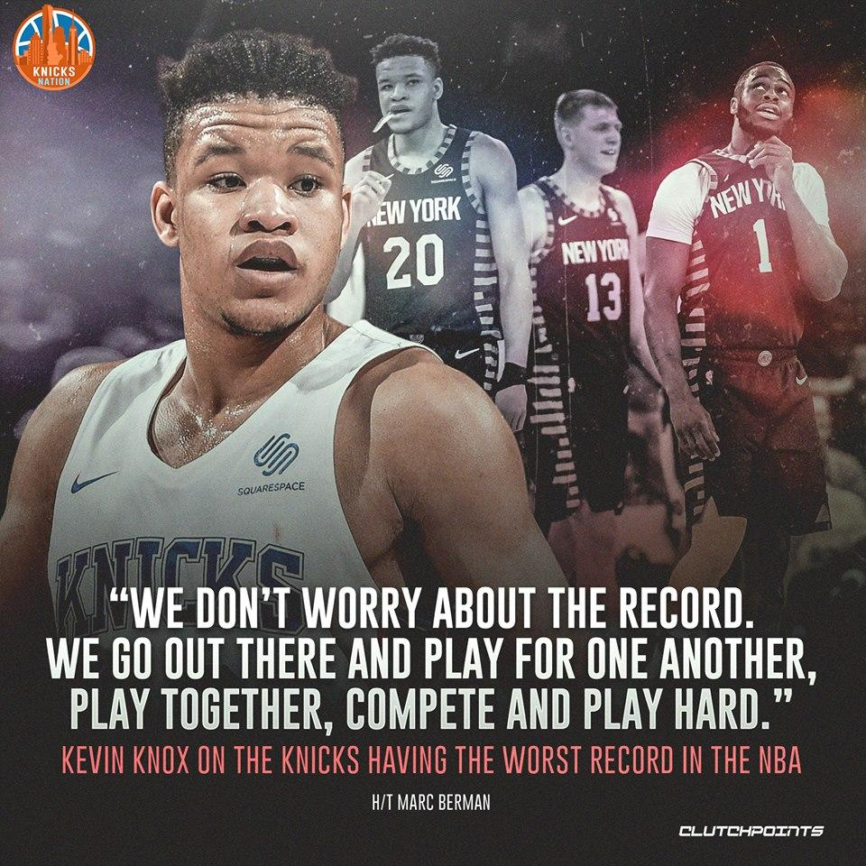 The standings don't matter to our players, only giving it their all night in and night out. 👊  #NewYorkForever #Knicks