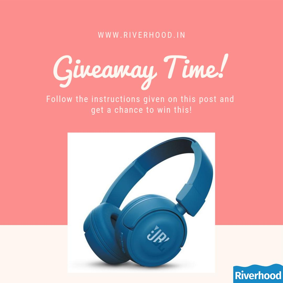 GIVEAWAY TIME! 1. Follow us @riverhood_in . 2. Give us a catchy tagline for our brand in  comments. The most catchy tagline will win this beautiful JBL headphones and get their tagline  on our website! Giveaway open only in India and till 9th march. #riverhood #GiveawayAlert https://t.co/443kHY7Coh