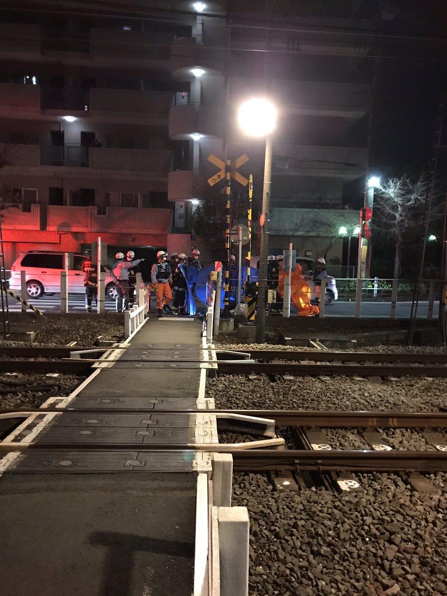 西武池袋線の小手指駅~狭山ヶ丘駅間で人身事故の現場画像
