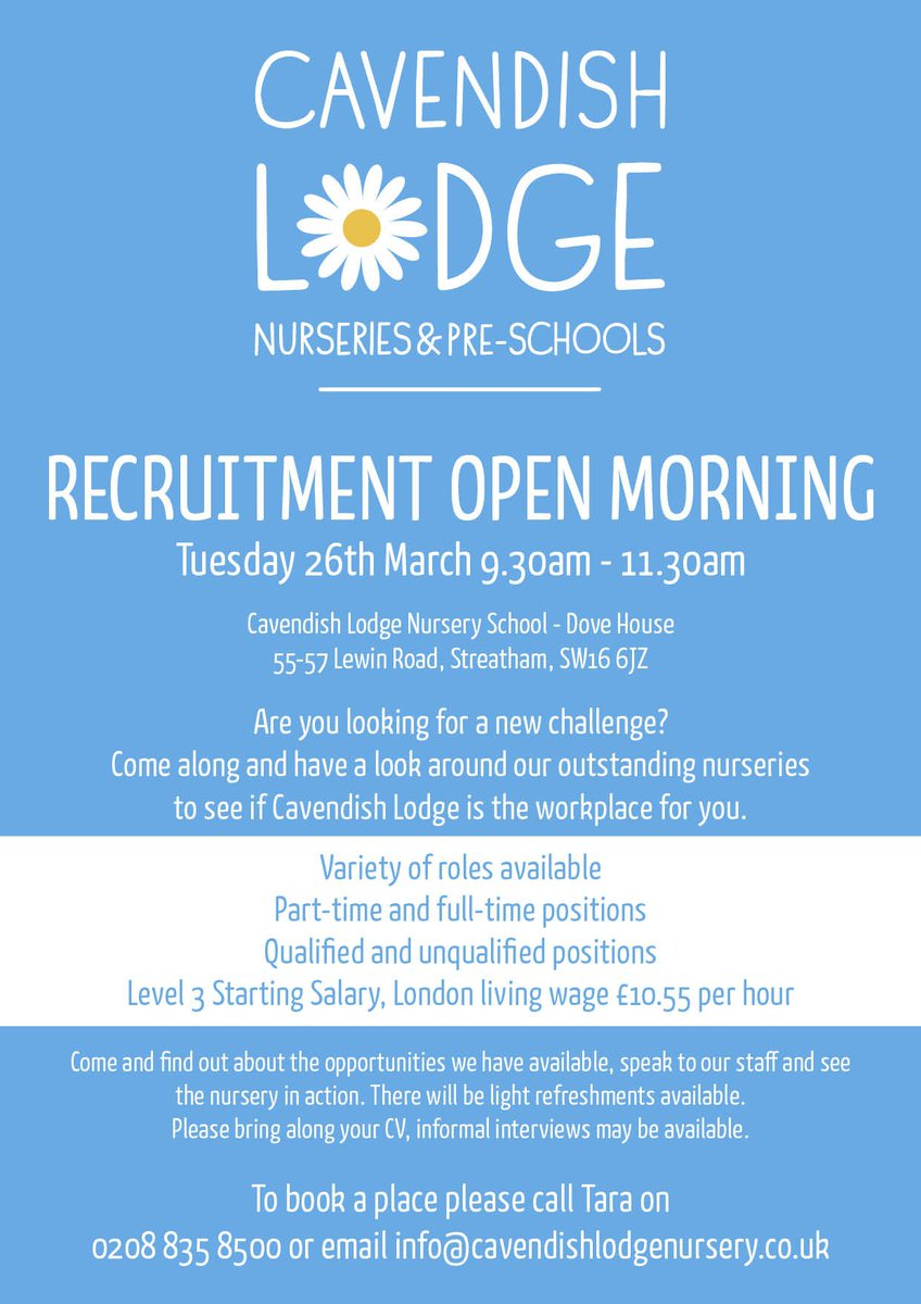 Please Come Along And Have A Look Around Our Outstanding Nurseries To See If Cavendish Lodge Is The Workplace For You Pic Twitter Fealzqdk4p