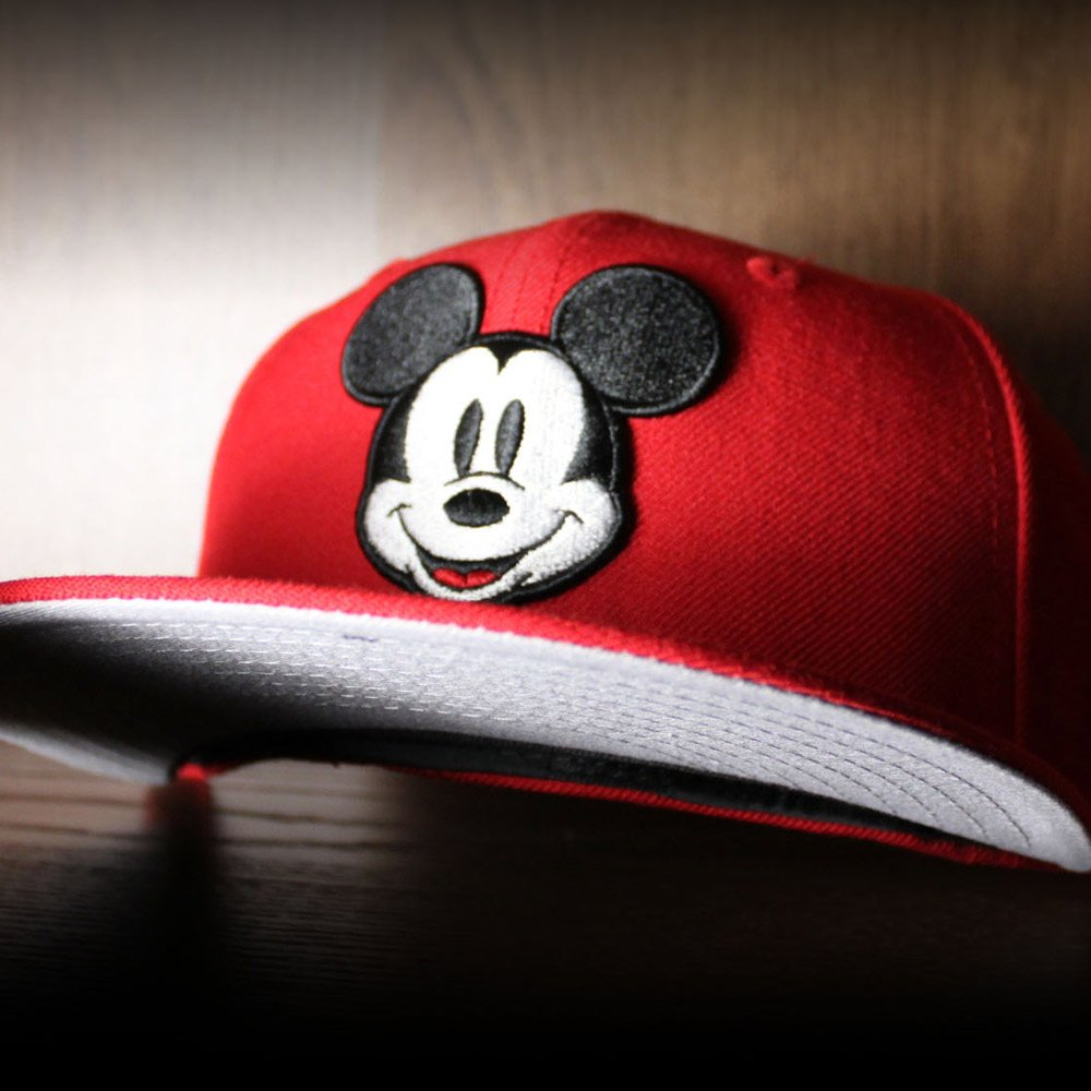 cece4bf2d Mickey Mouse New Era 59Fifty Fitted Hat (Red Gray Under Brim) http
