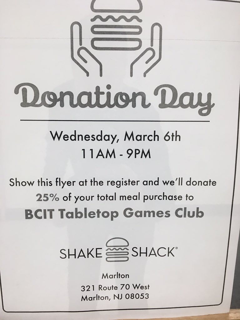 BCIT Table Top Games Club fundraiser. Please help support the Table Top Club @BCITMedfordCTE @BCITTWEETS