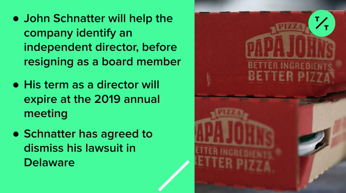 78fb993ec9c9 Papa John s and founder John Schnatter have just reached a settlement  agreement