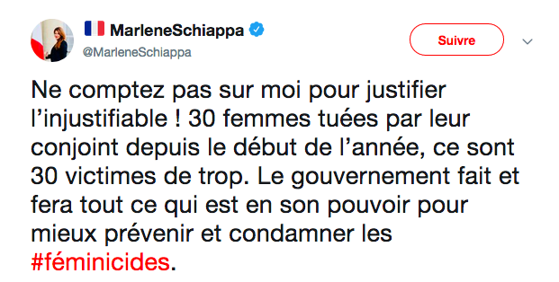 Je ne voudrais pas paraître rabat-joie @MarleneSchiappa mais dire que le gouvernement fait « tout ce qui est en son pouvoir » pour empêcher les féminicides est juste … faux. ⤵ https://t.co/otyLFN62Wa
