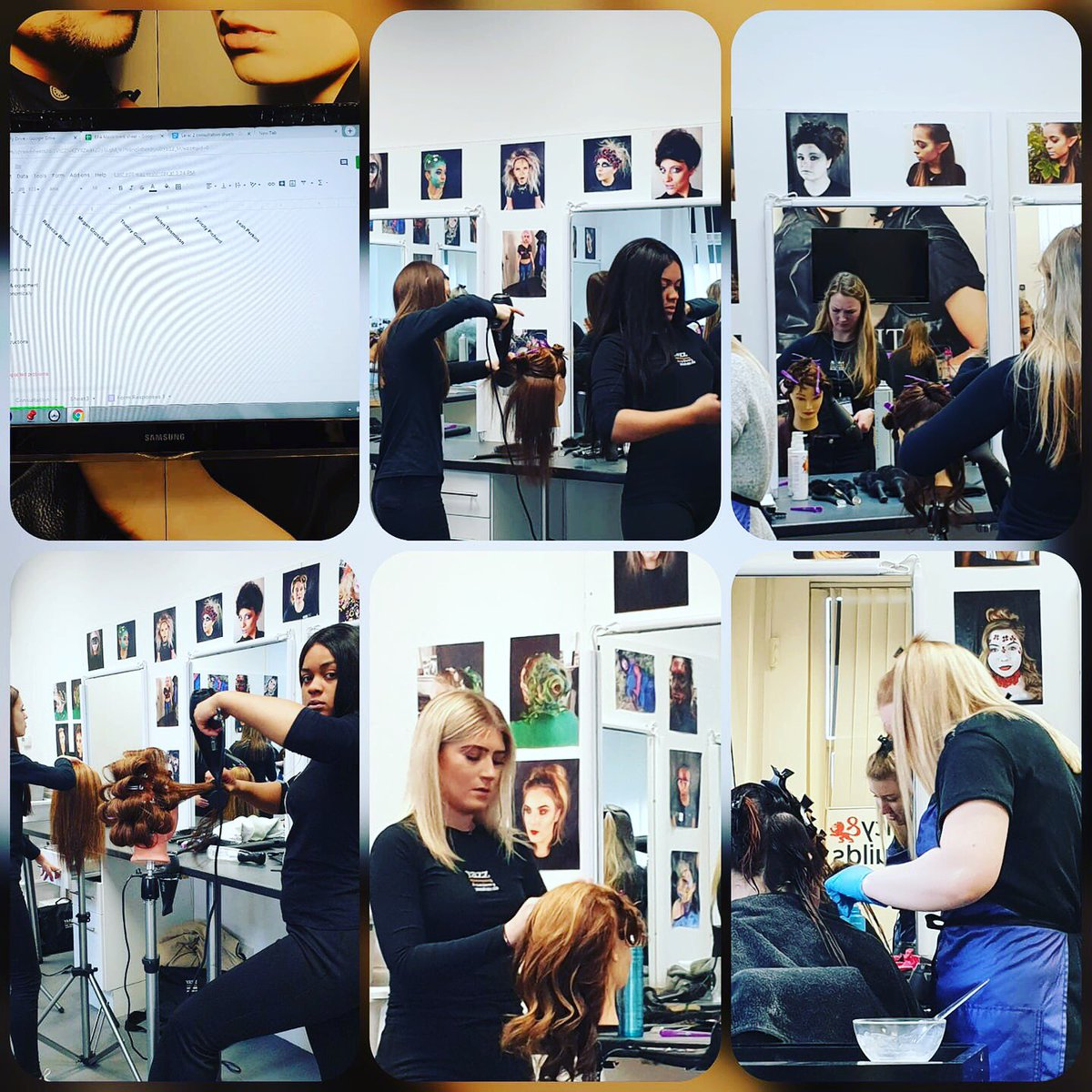 L2 students completing their Mock EPA, on the importance of the ways of working and their styling skills. #apprentices #yazzhairdressingacademy #hairdressing #Leeds