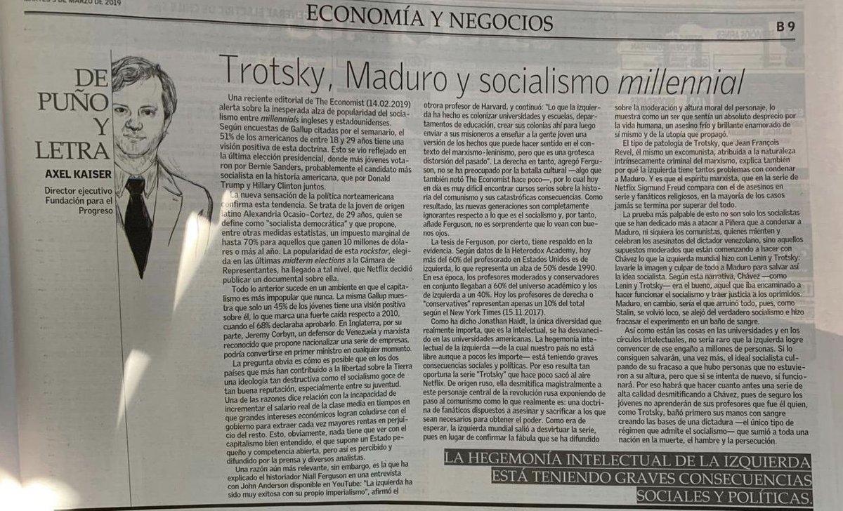 Mi columna sobre Trotsky y el marxismo como ideología criminal, la  complicidad de la izquierda con Maduro y los socialistas  milleniall.pic.twitter.com/ ...