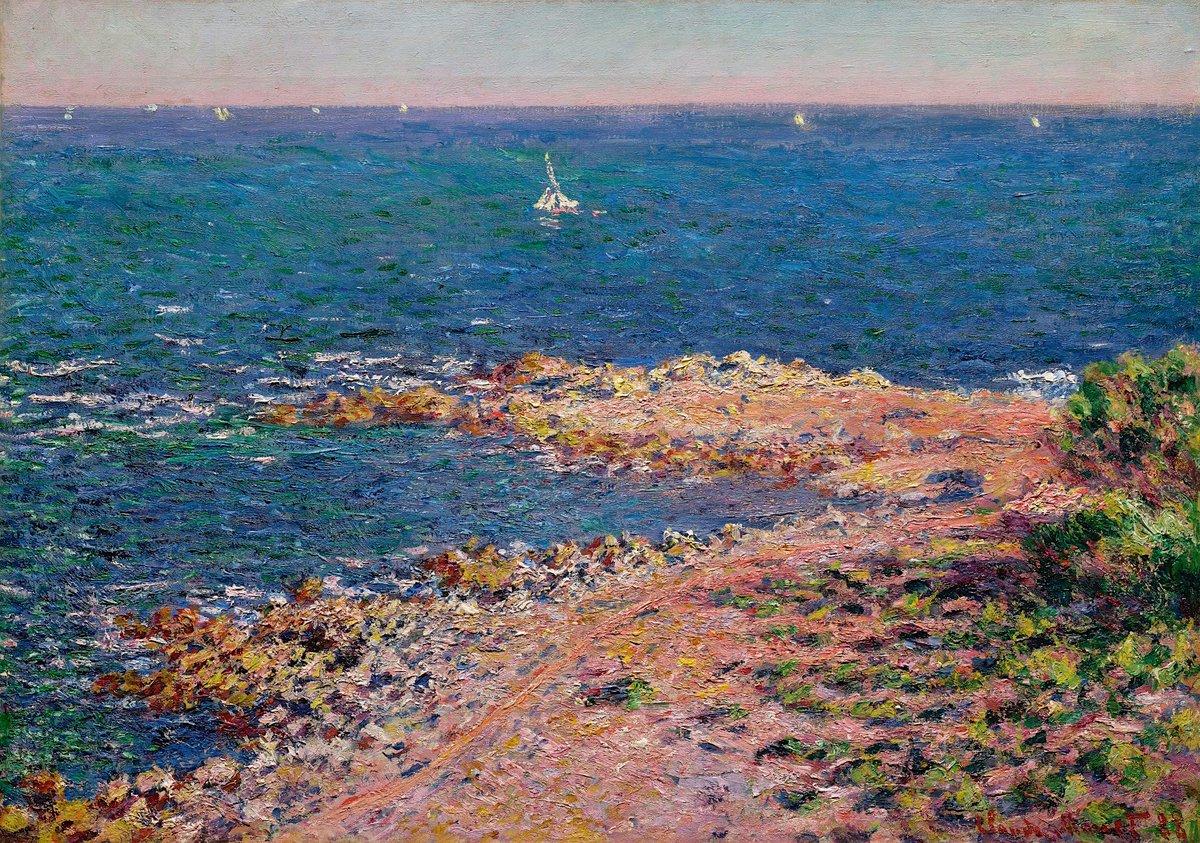 """Rabih Alameddine on Twitter: """"Claude Monet - La Méditerranée par Vent de  Mistral - 1888… """""""
