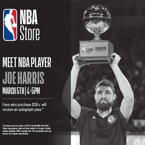 🚨 Nets fans! You can meet Joey Buckets today at the @NBASTORE from 4-5PM! 🚨