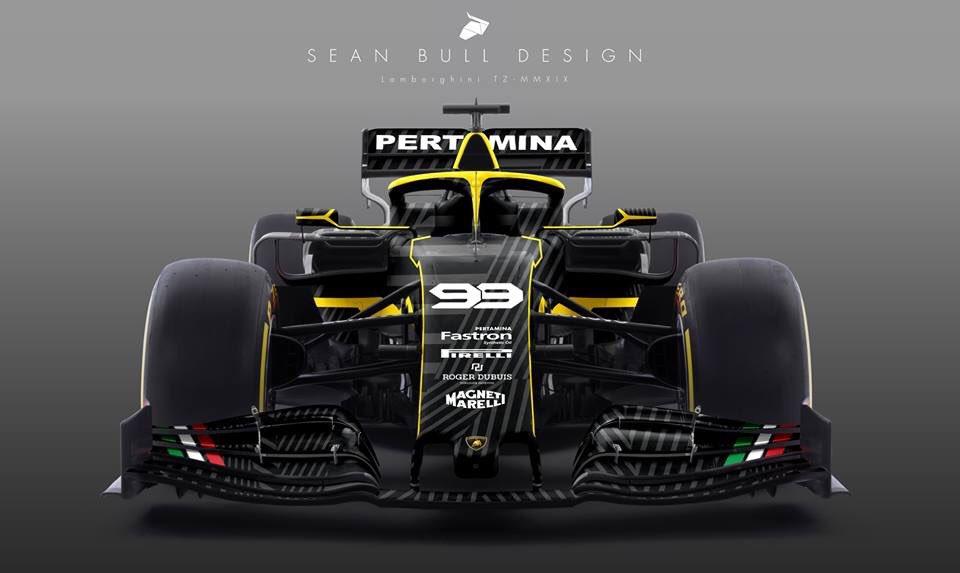 Sean Bull Design On Twitter Lamborghini F1 Livery Concept
