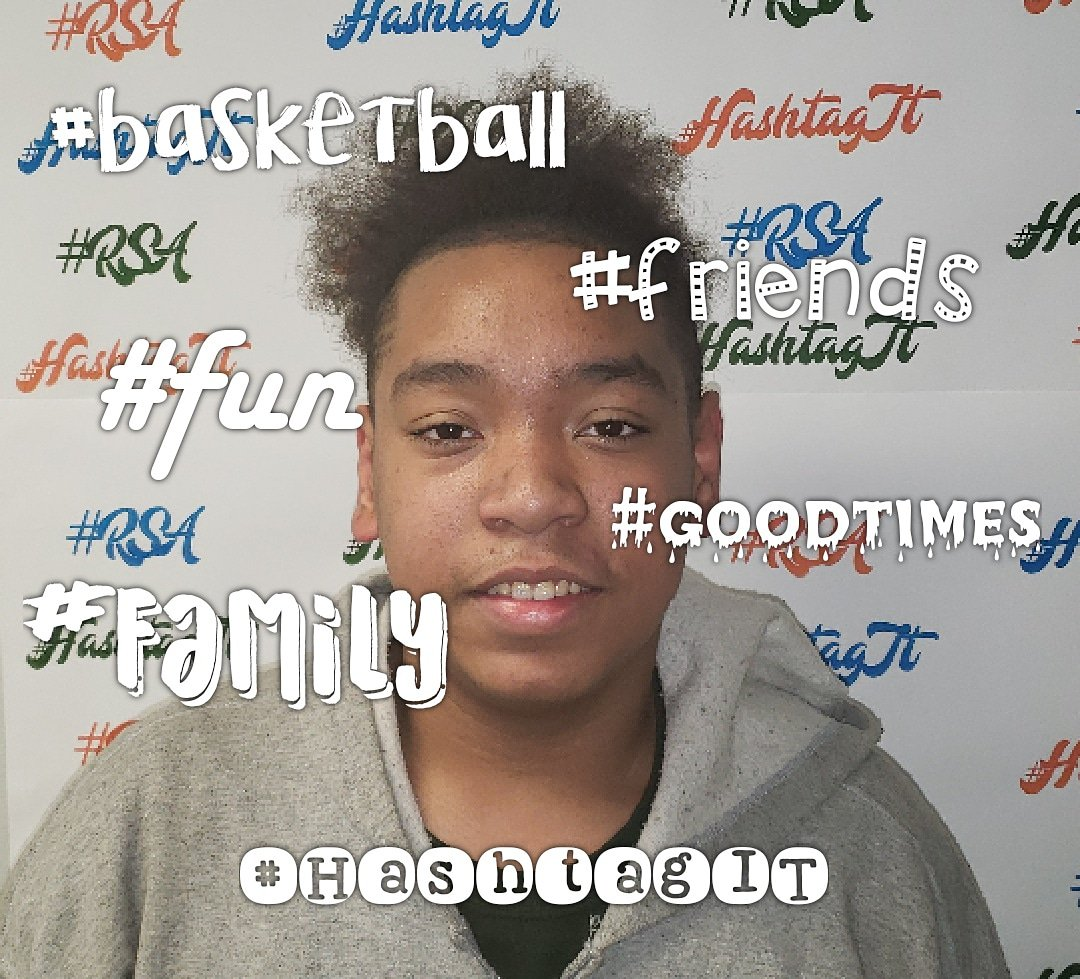 Student: Malakai RSA status: 7th Grader RSA duties: S. G. 7th grade rep. 5 positive hashtags that describe his feelings about RSA: #basketball #fun #family  #friends #goodtimes 💙💚🧡 We love you too! #HashtagIT  #Champions4Children  #TheBESTPerformingArtsSchoolinD4 https://t.co/umahPkw7R8
